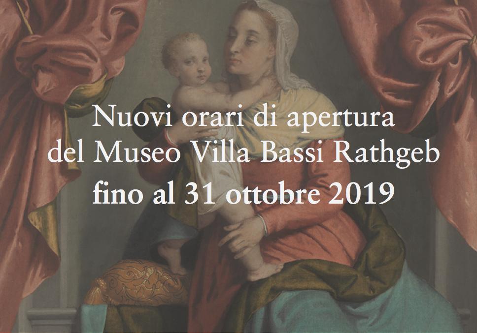 Nuovi orari di apertura fino al 31 ottobre 2019