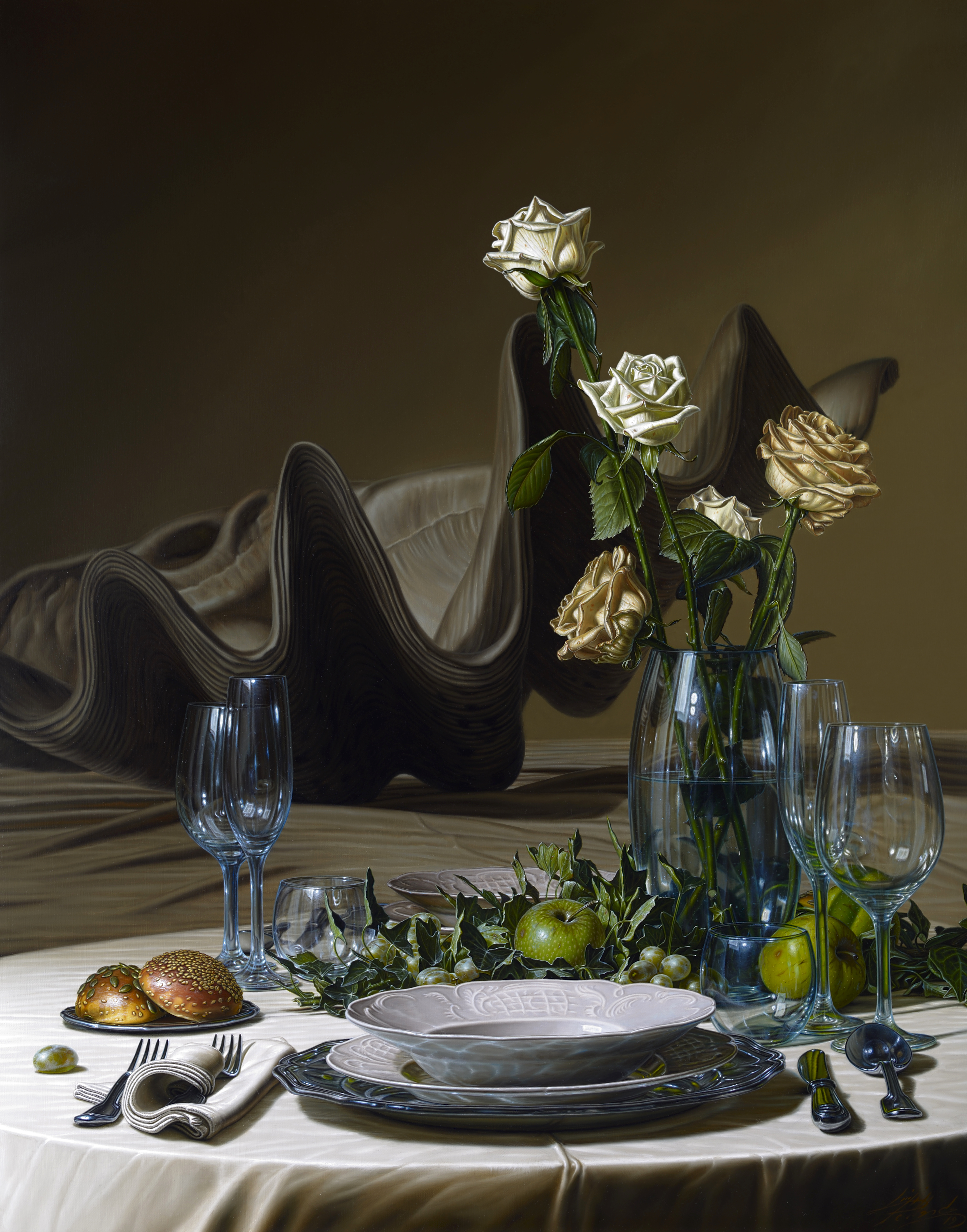Pellanda 2019, La rosa mystica, olio su tela 74x94cm